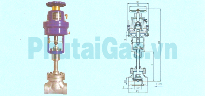 cryogenic globe valve air actuated djq 2