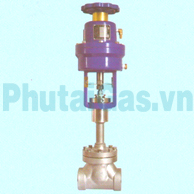 cryogenic globe valve air actuated djq