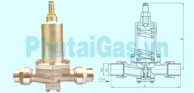 dys 40 50 cryogenic pressure building regulator valve for liquid gas tank 1